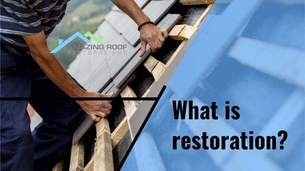 Restoration vs. Re-roofing -