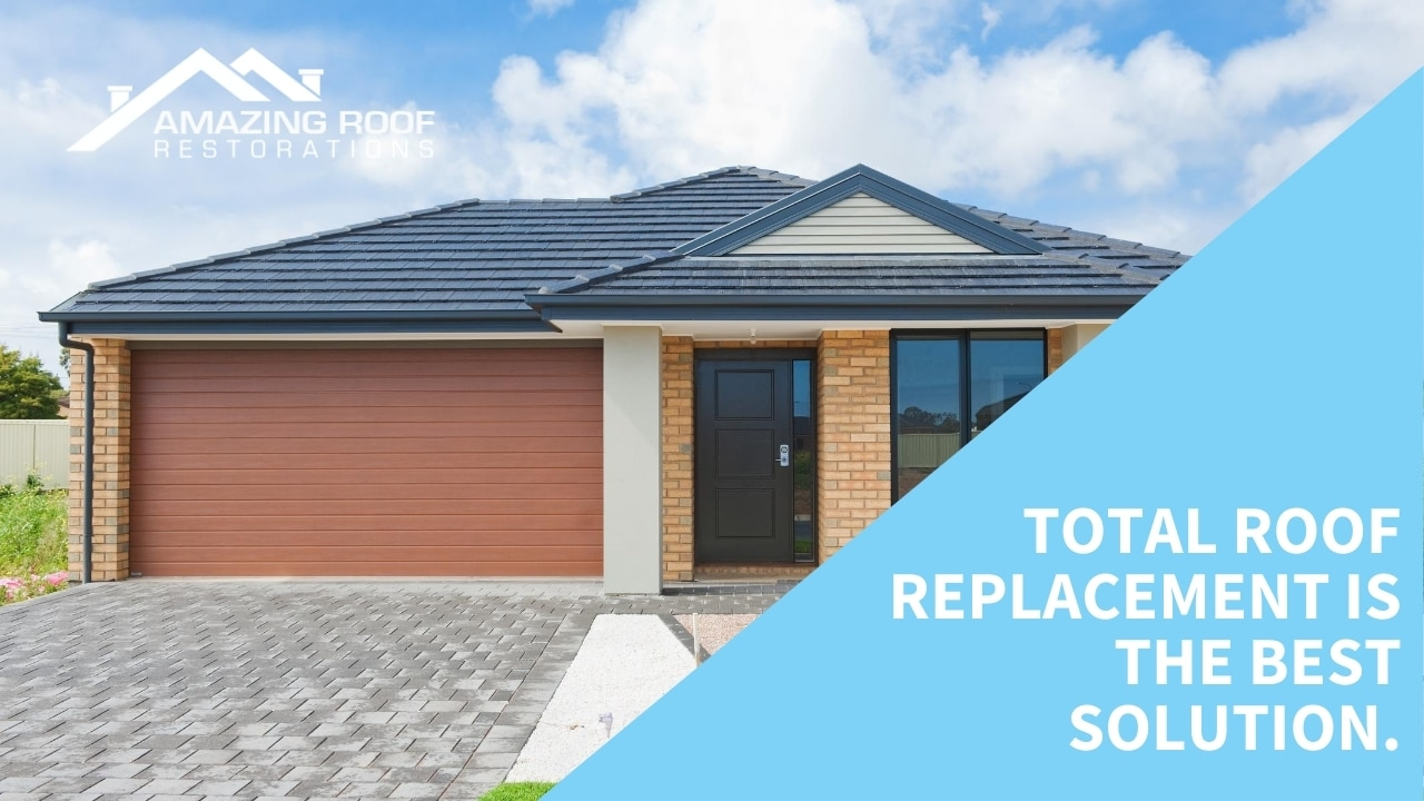 Total roof replacement is the best solution.